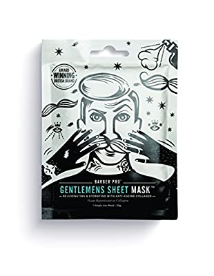 BARBER PRO GENTLEMEN'S SHEET MASK rejuventating and hydrating mask for men with anti-ageing collagen