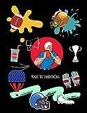 Sketchbook: Love Football & Sketching: A Perfect Sketchbook Gift - Blank Drawing Paper - American Football , Sport Lovers Sketch Book