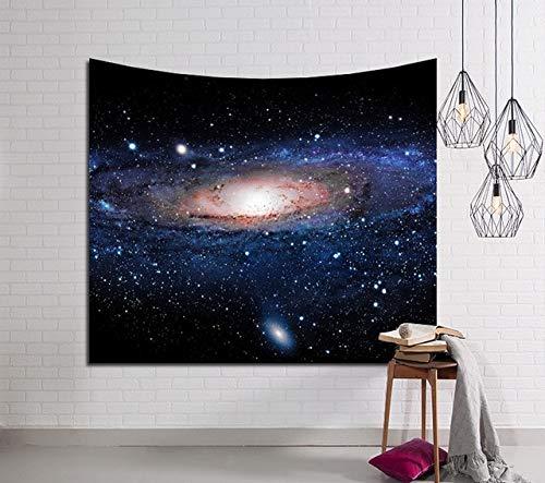 WERT Galaxy Tapiz de Pared Colgante Hippie Retro decoración del hogar Yoga Estera de Playa decoración del hogar Tapiz de Tela de Fondo A7 73x95cm