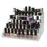 Organizador de maquillaje 66 Bottle Capacity | Exhibición de acrílico y estante de almacenamiento...