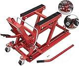Elevador De Motos Y Quads Hidraulico con pedal y mango Caballete Elevador Motor, 680 Kilos