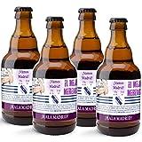 CEREX pack de 4 cervezas artesanales FUTBOL HALA MADRID cerveza especial trigo doble fermentacion cerveza alemana ideal regalo