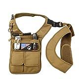 QEES Underarm Concealed Holster Wallet for Men, Anti-Theft Left Shoulder Bag, Hidden Shoulder Wallet, Multi-Purpose Portable Security Bag for Travel/Outdoors GJB436 (Khaki)