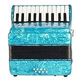 Acordeón De Piano Profesional 22 Teclas 8 Bajo Acordeón Instrumentos Solistas Y De Conjunto con Correa Guantes Paño De Limpieza para Principiantes Amante De La Música