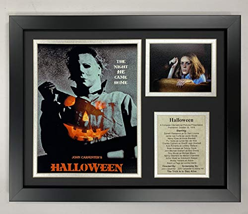 Michael Myers Halloween Classic Horror Movie Collectible | Framed Photo Collage Wall Art Decor - 12' x 15' | Legends Never Die