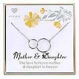 CHICLOVE Madre Hija Collares, Colgante Infinito Plata, Collar Madre e Hija, día de la Madre Regalo