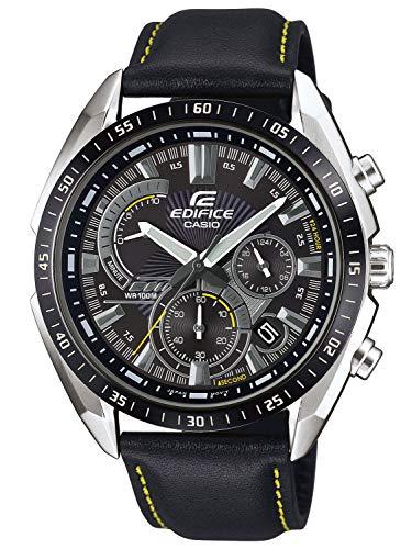 CASIO Herren Analog Quarz Uhr mit Echtes Leder Armband EFR-570BL-1AVUEF