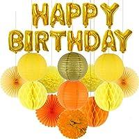 デコレーションパーティー 26個/セットお誕生日おめでとうホイルレターバルーン混合ちょうちんハニカムボールフラワーキッズ大人の誕生日パーティーの装飾