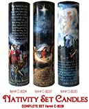The Saints Collection Christmas Set of Three Nativity, WISEMEN, Angels and Shepards LED Flameless Devotion Prayer Candle, Religious Gift, 6 Hour Timer for More Hours of Enjoyment and Devotion!
