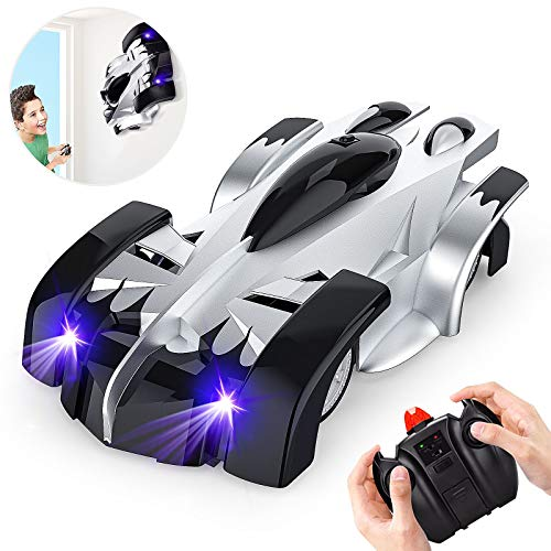 EpochAir Wall Climbing Remote Control Car Dual Mode 360° Rotating RC Stunt Cars with Headlight Rechargeable Toys for Boys Gift for 4 5 6 7 8-12 Year Old Kids