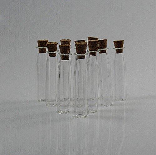 CHENGYIDA 20- PACK Bitty Flessen. Kleine lege containers. Miniatuur glazen potten met kurk.