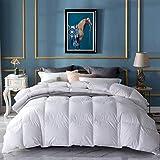 Amazon Brand - Umi Edredón nórdico de plumón de Ganso 155x220cm-cama 90 con Perfume de Lavanda y Exterior 100% algodón (Blanco, 4 Estaciones)