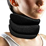 Cervical Neck Brace Support Collar Adjustable Neck Traction Device for Pain Relief & Pressure Soft Brace Collar Neck Decompression Posture Collar Home Neck Tension 18x4 inch