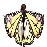 OVERDOSE Frauen 197 * 125CM Weiche Gewebe Schmetterlings Flügel Schal feenhafte Damen Nymphe Pixie...