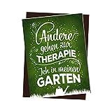 trendaffe - Kühlschrankmagnet mit Spruch: Andere gehen zur Therapie ich in Meinen Garten