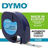 Dymo LetraTag Plastic Label Tape, 12 mm x 4 m Roll - Clear