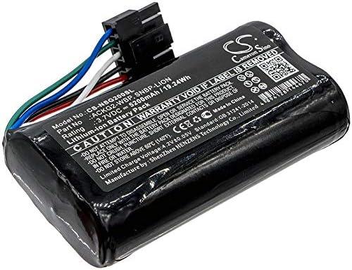5200mAh Battery Replacement for NetScout Aircheck G2 AirCheck G2 WLAN Tester SNBP-Lion ACKG2-WBP (3.7V)