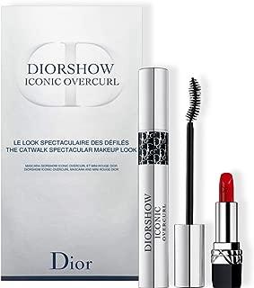 Christian Dior Christian Dior Dior Diorshow Iconic Overcurl 2 Piece Set (mascara 090 0.33 Oz + Mini Rouge Lipstick 999)