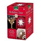 Keystone Holiday Indoor Outdoor 21 Inch Illuminated Prelit LED Christmas Advent Star Light Decoration, White