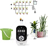 JAKEMY Automatic Drip Irrigation Kit,Mini Size Big Power Houseplants Self Watering System with 1-23 Hour & 1-30 Day...