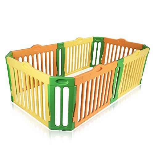 Baby Vivo Box per Bambini Sicurezza Barriera Pieghevole Recinto Plastica Estensibile Rettangolare - Modello 2017