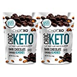 ChocKETO Dark Chocolate Covered Almonds | Keto Certified, Low Sugar and Kosher | Sustainably Sourced 85% Cacao, 100 g (2-Pack)