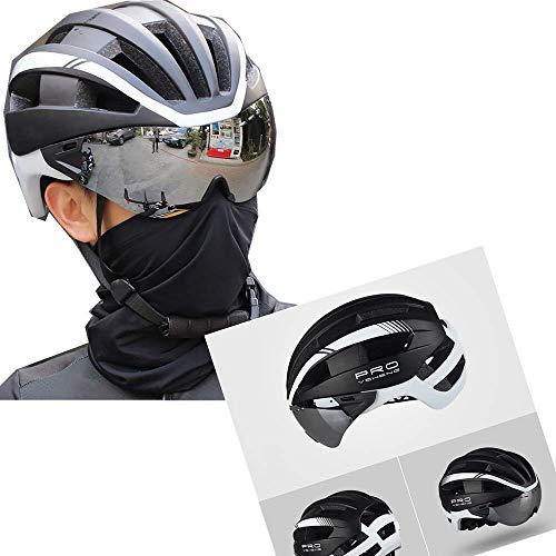 Fahrradhelm Mountainbike Helm Radhelm Skaterhelm,mit abnehmbarem magnetischem Visier,Robust und Ultraleich,Verstellbar Radhelm(57-62cm) (Weiß)