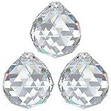 3 sfere di cristallo Ø 30 mm Crystal 30% PbO ~ Feng Shui lampadario arcobaleno
