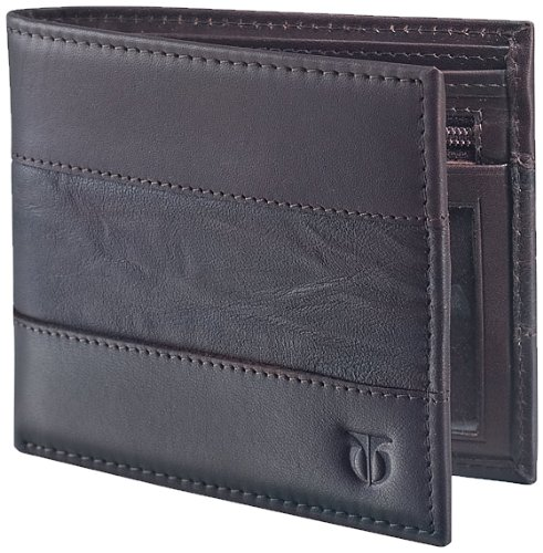 TITAN Brown Leather Men's Wallet (TW106LM1DB)