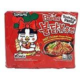 New Samyang Hot Chicken Noodle - Buldak Tomate Pasta - 5 oz - (Paquete de 5)