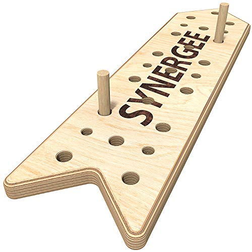 Synergee Peg Board 4ft Climbing Pegboard for Pull Up, Rock Climbing, Parkour, and Fitness. Includes 2 Pegs.