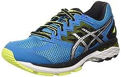 Asics Gt-2000 4 férfi futócipő, kék (kék ékszer / fekete / biztonsági sárga), 44 EU