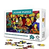 Rompecabezas de 500 piezas para adultos Animación clásica estadounidense: The SimpsonsPuzzle Juegos de rompecabezas de 500 piezas para niños Juegos educativos Regalo de entretenimiento. Los 52X38cm