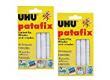 UHU 48810-002 patafix-Adhesivos Reutilizables (2 Paquetes de 80 Unidades), Color Blanco