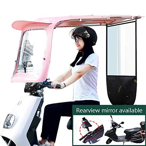 Qazxsw General Scooter Stylish Sunshade Umbrella, Electric Battery Car Rain Shed, Motorcycle Sunscreen Rain And Windshield, Used For Windscreen Sunscreen And Rain
