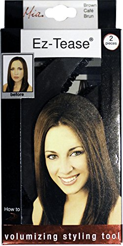 Mia Ez-Tease Hair Volumizing Inserts Hair Styling Tool | Brown | for Women, Hair Stylists, Brides, Teens 3pcs