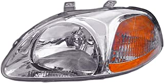 Headlight Replacement For Honda Civic Driver Left Side Lh 1996 1997 1998 Headlamp
