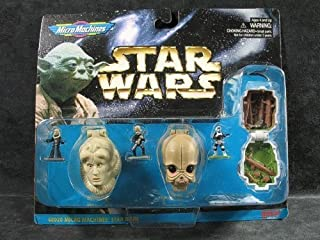 Barbie Star Wars Micro Machines Mini Head Action Collection IV: Bib Fortuna, Figrin D'an, Scout Trooper