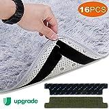SAFETYON Rug Gripper Carpet Non Slip Pads 16PCS Anti Slip Rug Grips with Yellow Renewable Carpet...