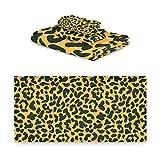 TropicalLife Rulyy - Juego de toallas de tres piezas con estampado de leopardo y...