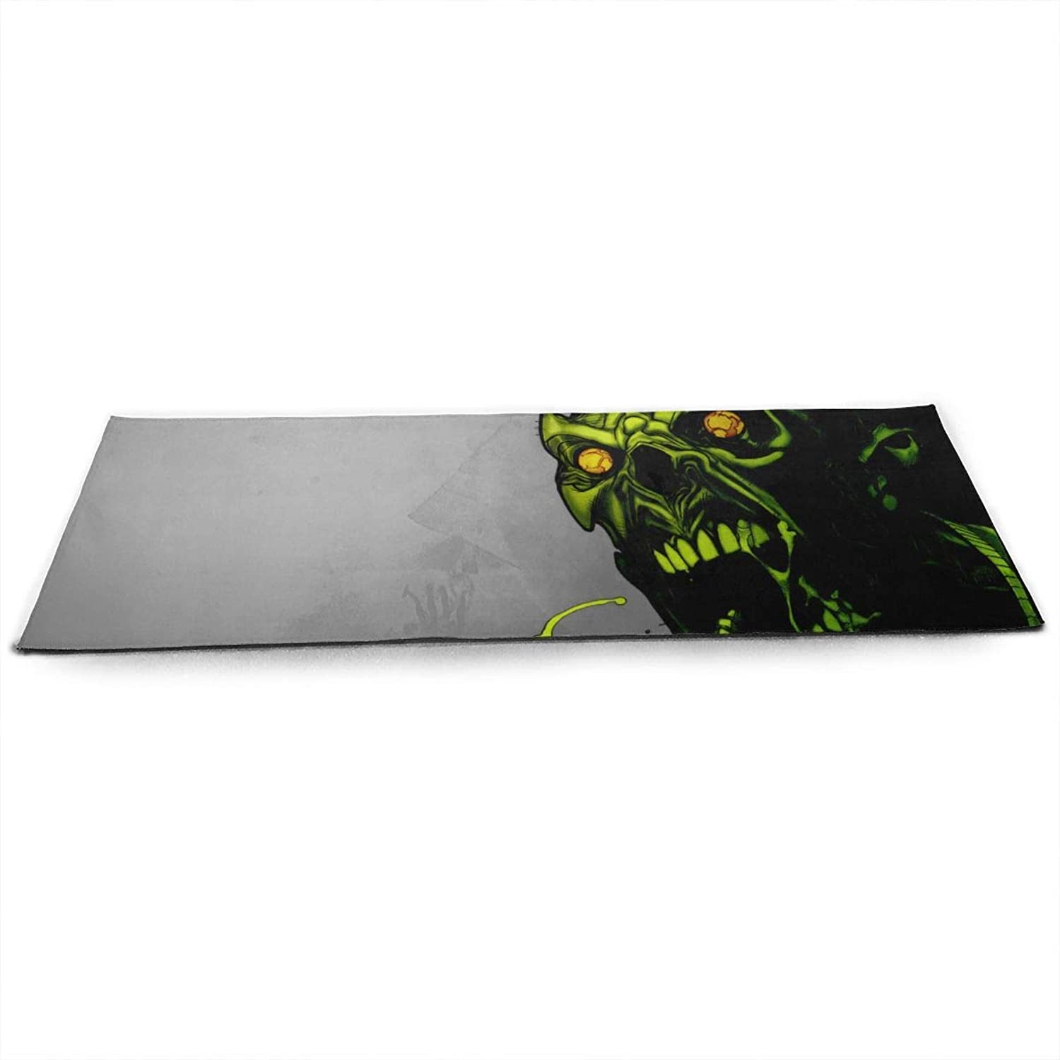 Halloween Zombies Scary Wall ECO Aqua Power Kinematic Iyengar Kundini Hot Pilates Gymnastics Hatha Yoga Mat Exercise Mat