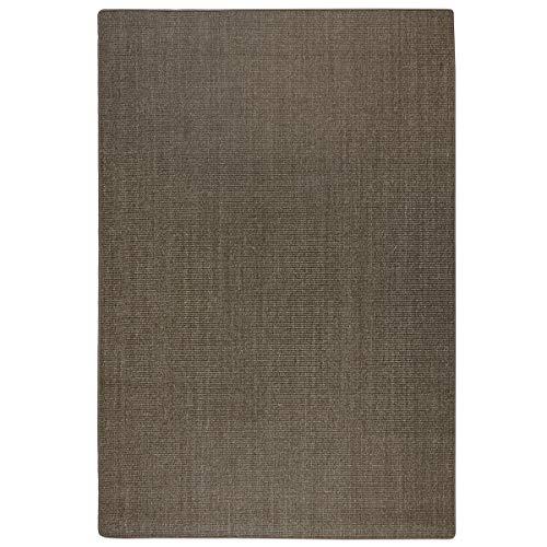 havatex: Sisal Teppich Trumpf - hypoallergene Naturfaser   schadstoffgeprüft pflegeleicht schmutzabweisend robust strapazierfähig, Farbe:Nocce/Creme, Größe:140 x 200 cm