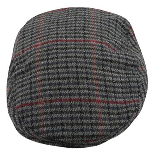 Socks Uwear Unisex Tweed Country Style Flat Cap Hat Gr. L/XL, Grau Blau Rot