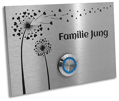 Jung-Edelstahl-Design Türklingel mit Gravur