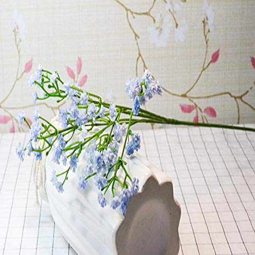 Artificial Flowers CMMBB Fake Flowers 1PC DIY Artificial Baby's Breath Flower Gypsophila Silicone Plant for Wedding Home Party Decoration 8 Colors lightblue