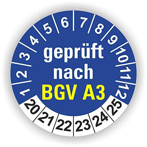5-1.000 Stück Prüfplaketten Prüfetiketten Wartungsetiketten BGV A3 Prüfung Ø 40mm (Blau 30 Stück)