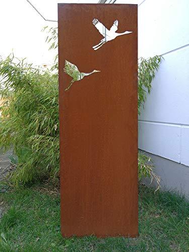 Zen Man Edelrost Garten Sichtschutz aus Metall Rost Gartenzaun Sichtschutzwand 031477-9 H150*50cm