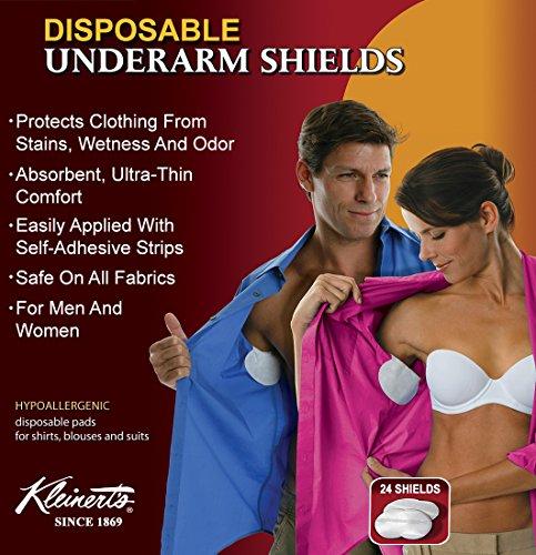 Underarm Sweat Pads - 24 Disposable Premium Absorbent Armpit Underarm Shields