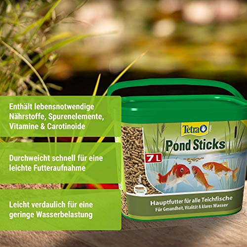 Tetra Pond Sticks (Hauptfutter für alle Gartenteichfische in Form von schwimmfähigen Sticks), 7 Liter Eimer - 2