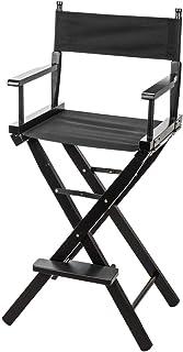 CLAR DC-30 フィルムディレクターの椅子 (ブラックウッド ブラックシート&バック)